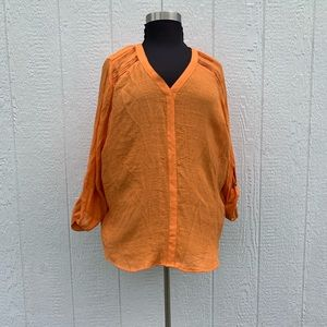ZAK AND RACHEL LONG ORANGE SUMMER TUNIC 2XL